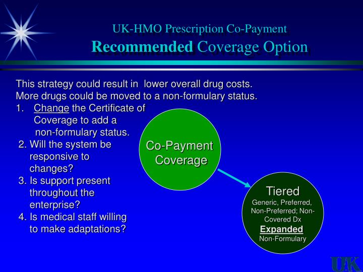 UK-HMO Prescription Co-Payment