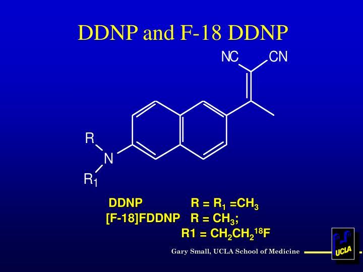 [F-18]FDDNP   R = CH