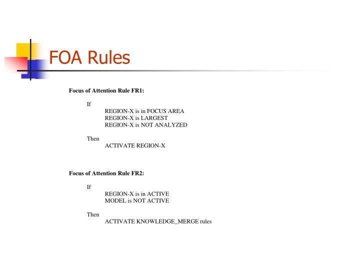 FOA Rules
