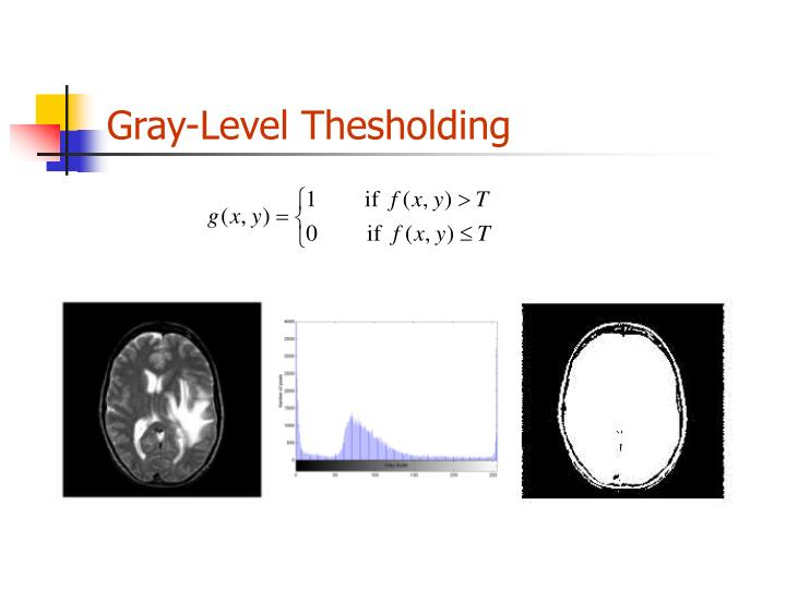 Gray-Level Thesholding