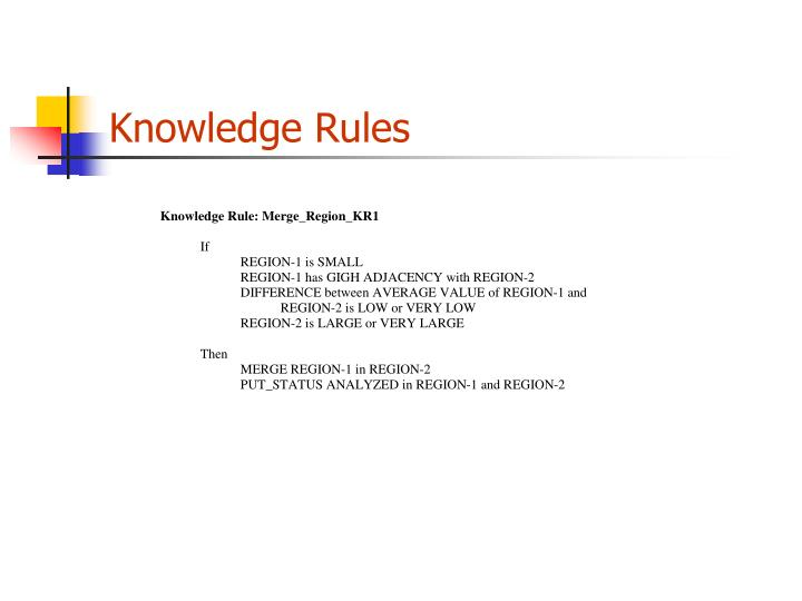 Knowledge Rules