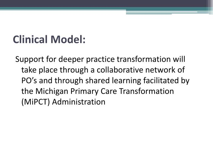 Clinical Model: