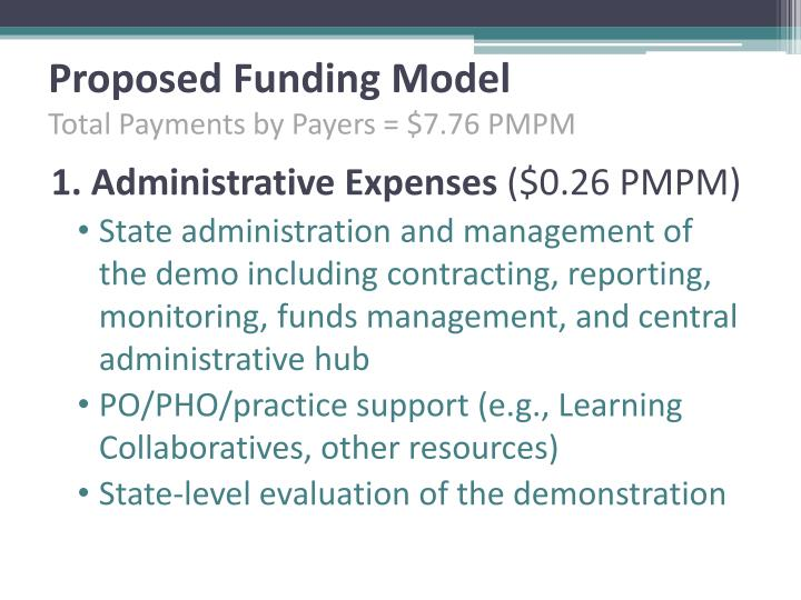 Proposed Funding Model