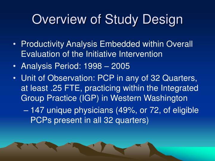 Overview of Study Design