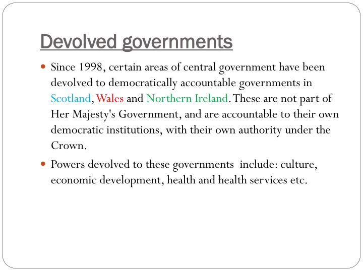 Devolved governments