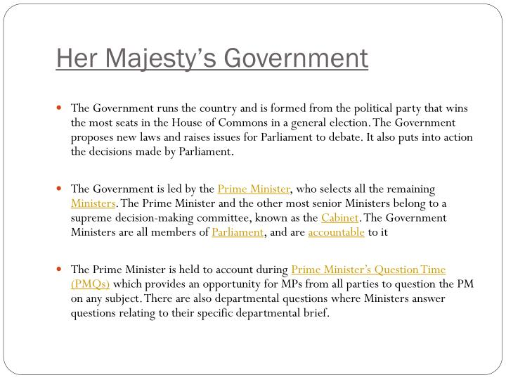 Her Majesty's Government