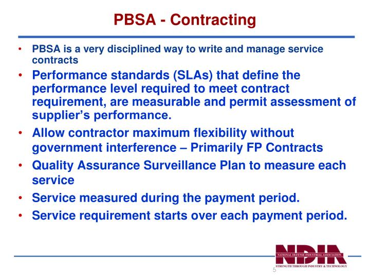 PBSA - Contracting