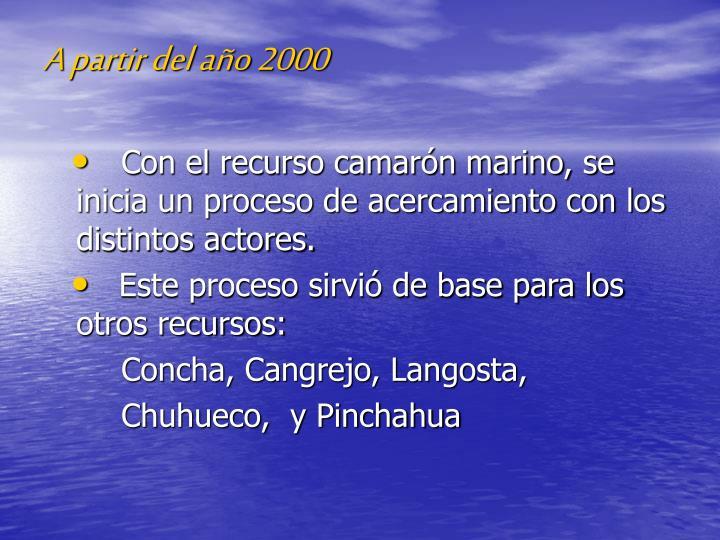 A partir del año 2000