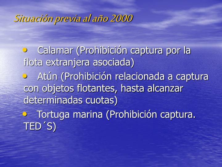 Situación previa al año 2000