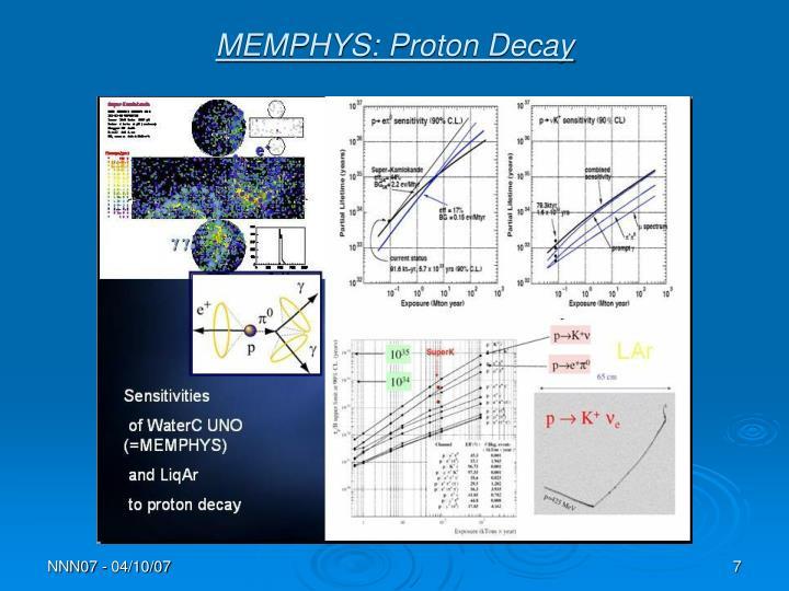 MEMPHYS: Proton Decay