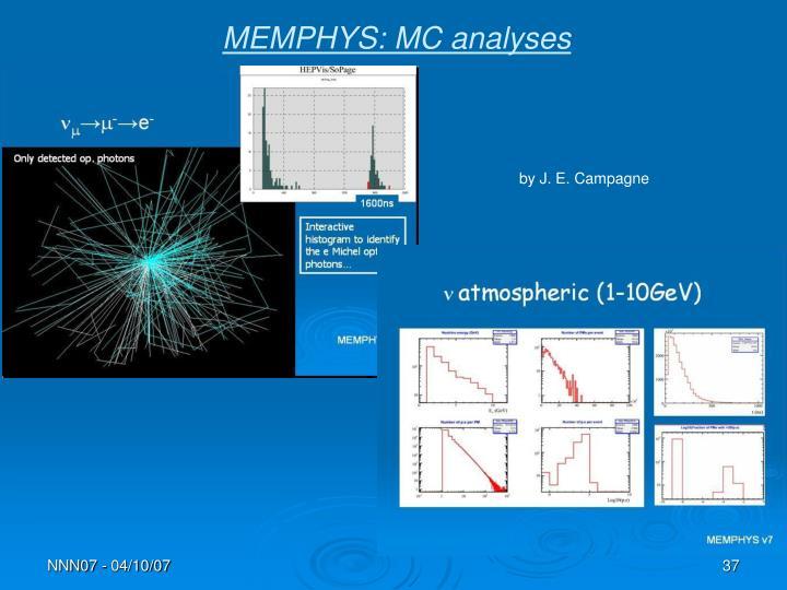 MEMPHYS: MC analyses