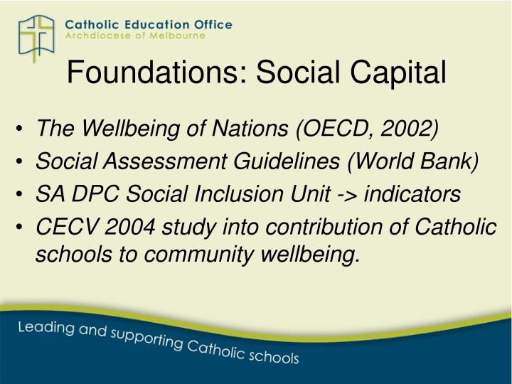 Foundations: Social Capital