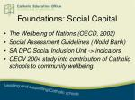 foundations social capital