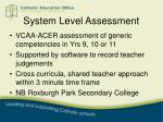 system level assessment3