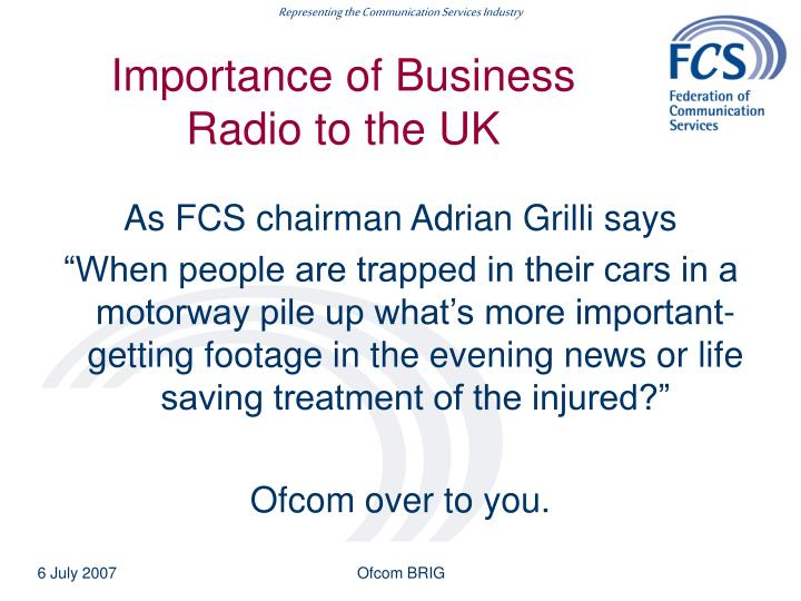 Importance of Business Radio to the UK