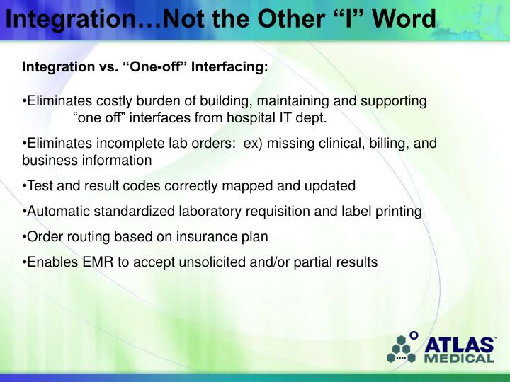 "Integration…Not the Other ""I"" Word"