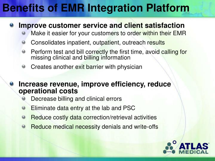 Benefits of EMR Integration Platform
