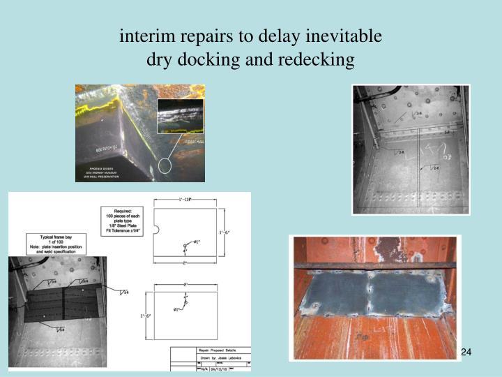 interim repairs to delay inevitable