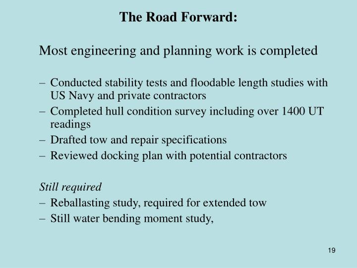 The Road Forward: