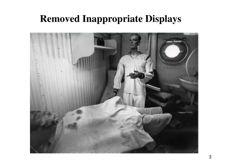 Removed Inappropriate Displays