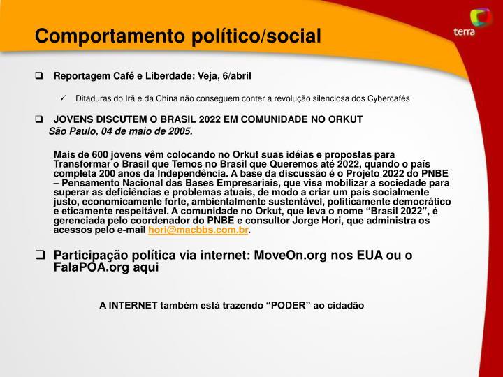 Comportamento político/social
