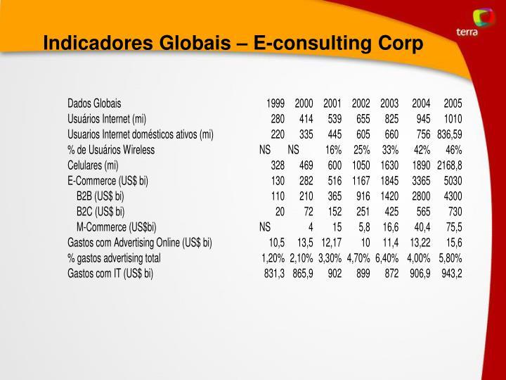 Indicadores Globais – E-consulting Corp