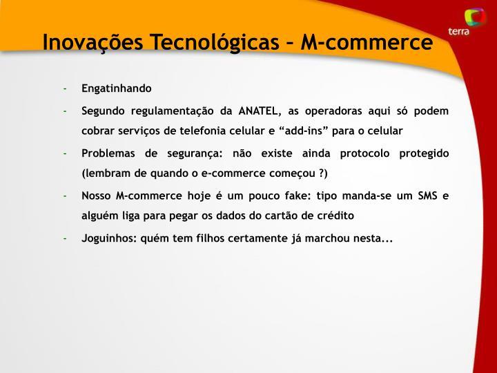 Inovações Tecnológicas – M-commerce