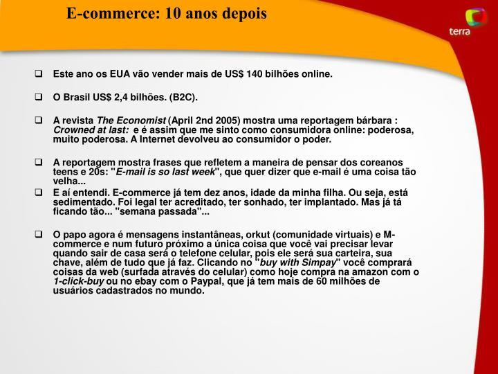 E-commerce: 10 anos depois