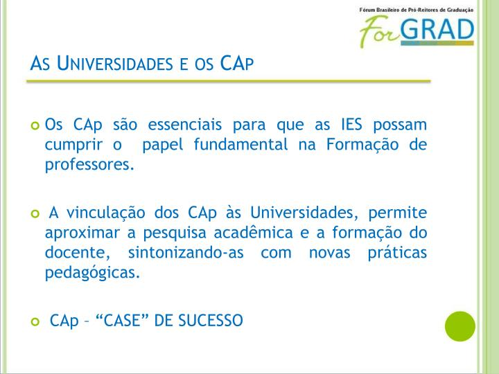 As Universidades e os