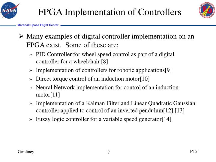 FPGA Implementation of Controllers