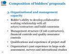 composition of bidders proposals2
