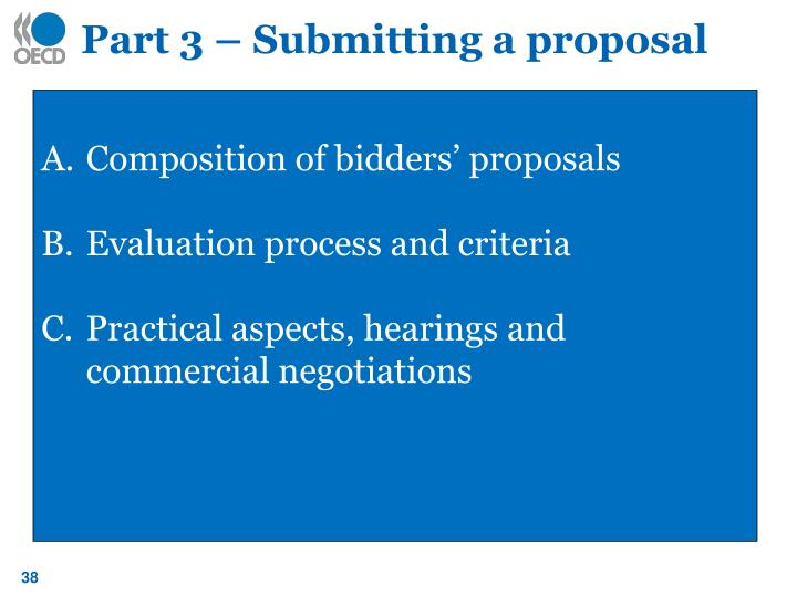 Part 3 – Submitting a proposal