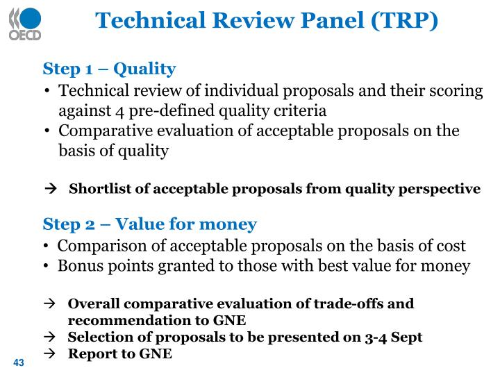 Technical Review Panel (TRP)