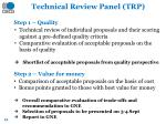 technical review panel trp
