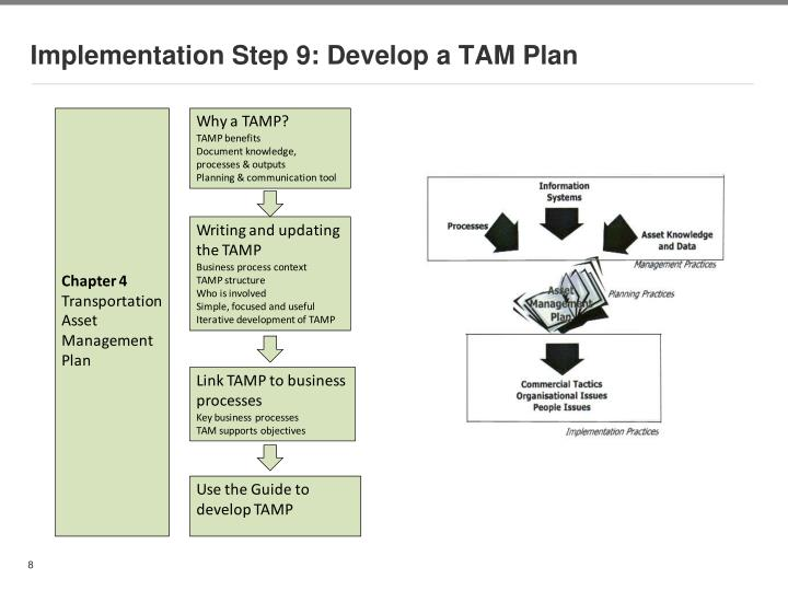 Implementation Step 9: Develop a TAM Plan