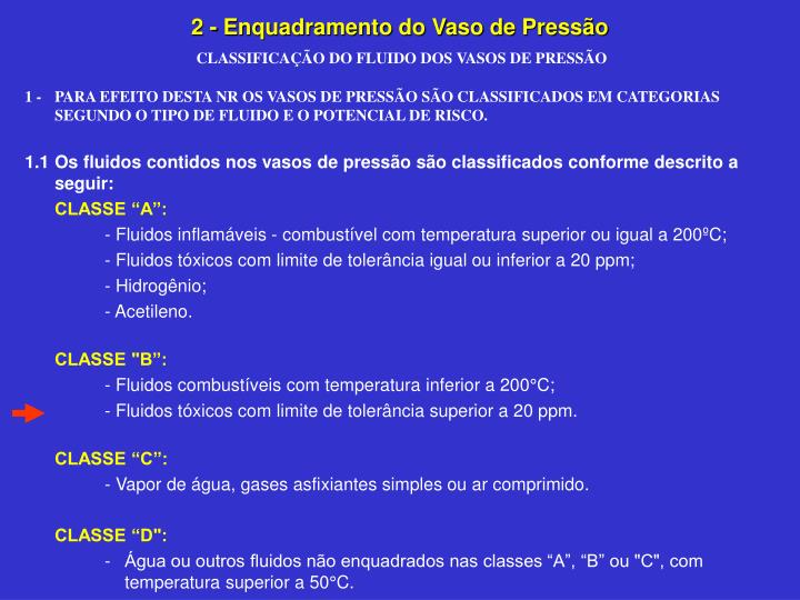 2 - Enquadramento do Vaso de Pressão