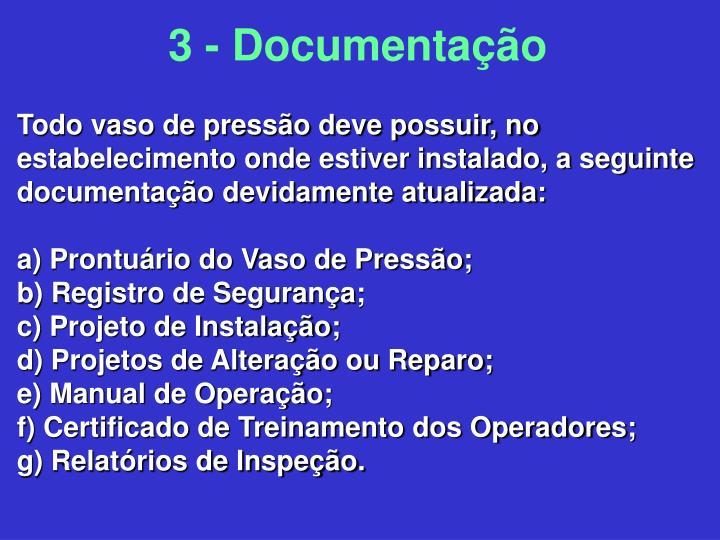 3 - Documentação