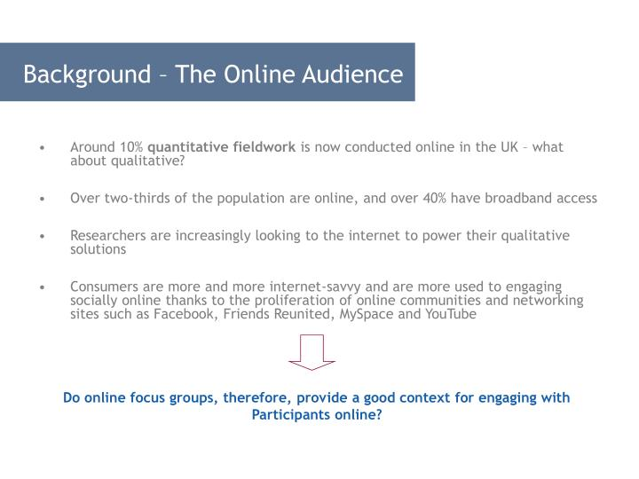 Background – The Online Audience