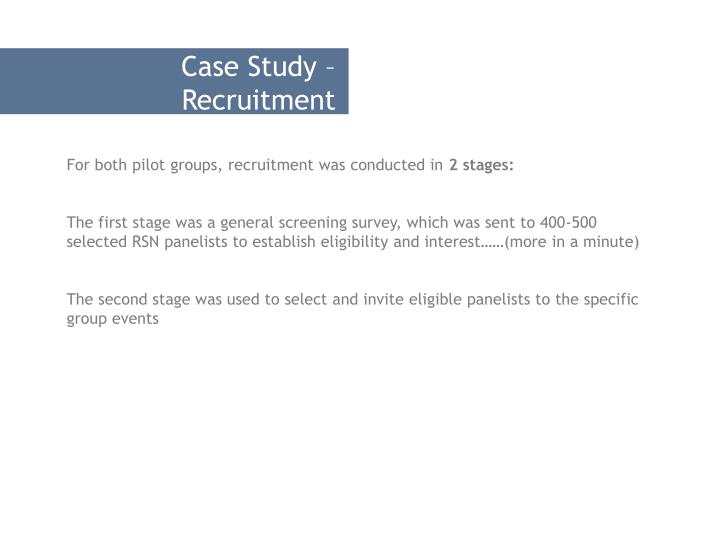 Case Study – Recruitment