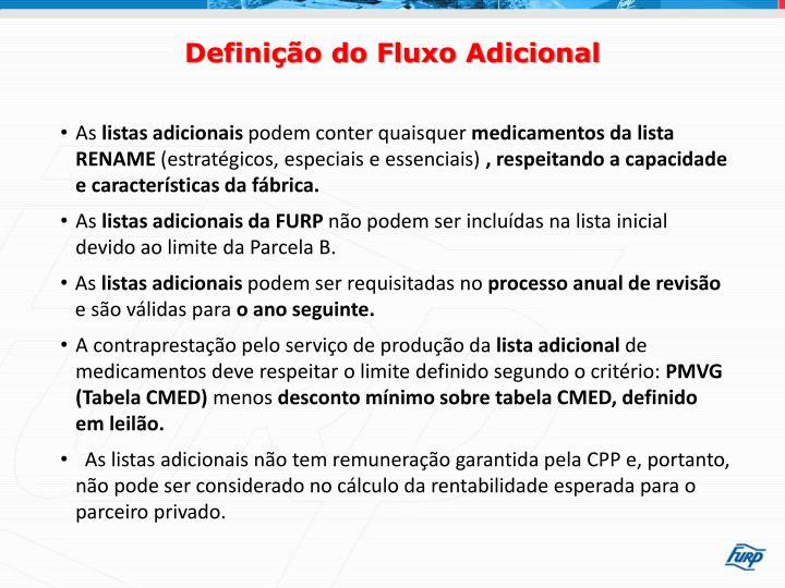 Definição do Fluxo Adicional