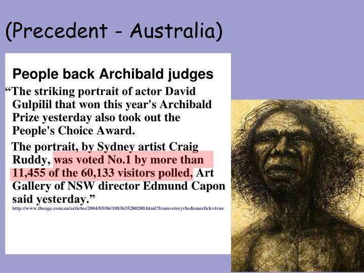 (Precedent - Australia)