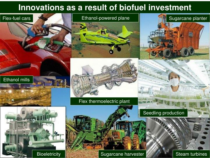 Innovations as a result of biofuel investment