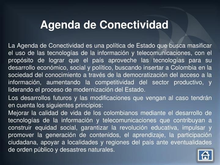 Agenda de Conectividad