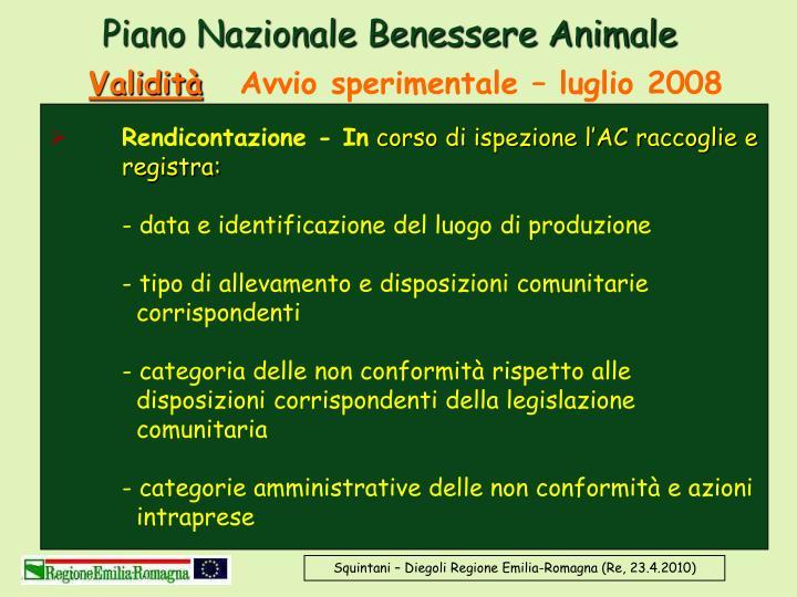 Piano Nazionale Benessere Animale