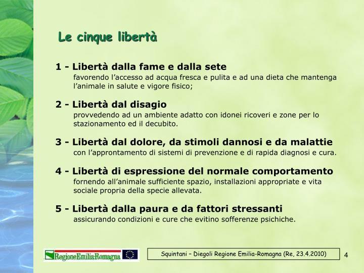 Le cinque libertà