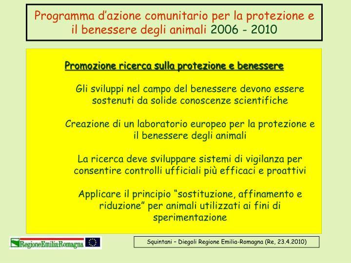 Programma d'azione comunitario per la protezione e il benessere degli animali