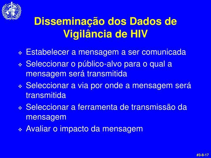 Disseminação dos Dados de Vigilância de HIV