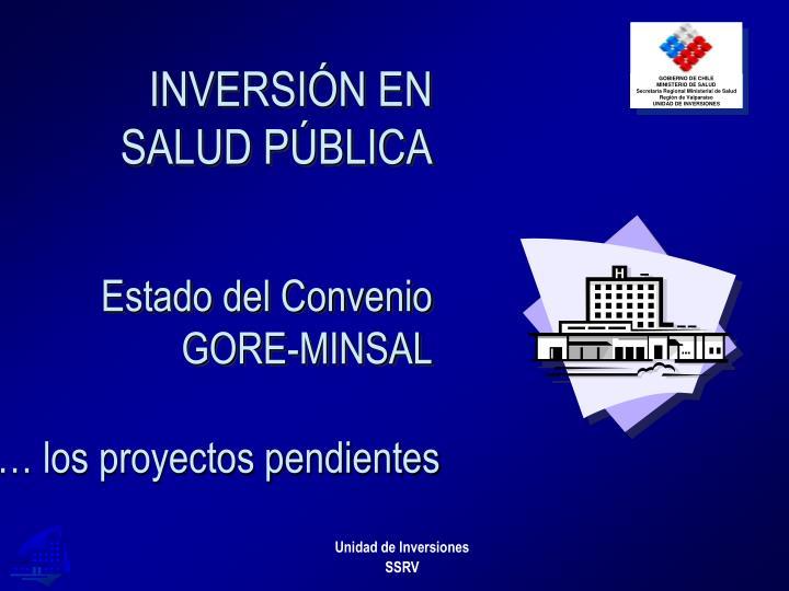 INVERSIÓN EN SALUD PÚBLICA