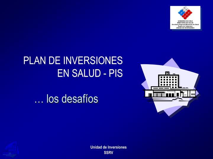 PLAN DE INVERSIONES EN SALUD - PIS