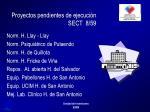 proyectos pendientes de ejecuci n sect 8 59